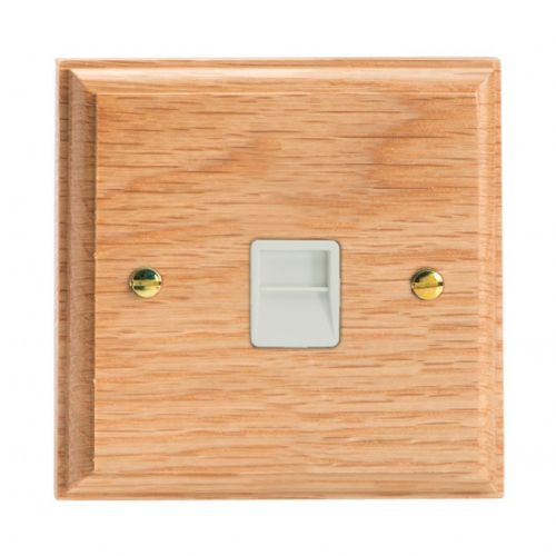 Varilight XKTSOW Kilnwood Oak 1 Gang Telephone Slave (Extension) Socket